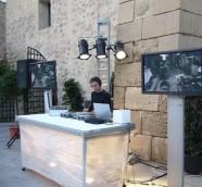 DJ Paco Valiente en Foro Mediterráneo, Castillo de Santa Bárbara (Alicante).