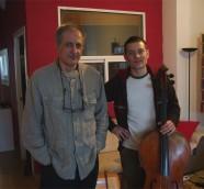 Emilio Garrido y Matthieu Saglio durante la entrevista./ (Paco Valiente)