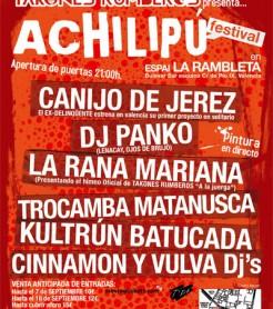 Cartel del Achilipú Festival 2012
