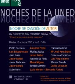 """Cartel de la Fiesta-Concierto """"Noche de canción de autor"""""""