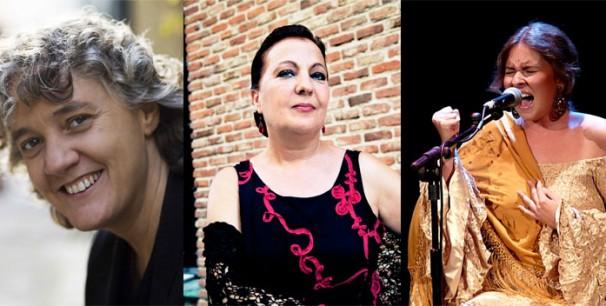 Mayte Martín, Camen Linares  y Rocío Marquez en el Auditorio Nacional de Música