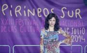 Carmen París recibió el Premio Diversidad Cultural de Pirineos Sur./ (Jorge Fuembuena)