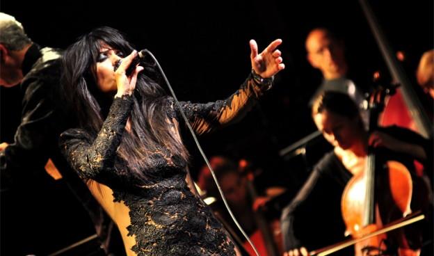 """Yasmin Levy durante los conciertos de la gira """"Tango""""./ (Tali Tamir)"""
