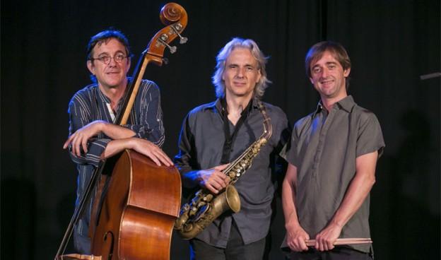 Javier Colina, Perico Sambeat y Marc Miralta, CMS Trio./ (Miquel Monfort)