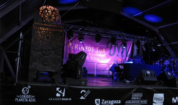 Escenario en Sallent de Gállego (Huesca) de Pirineos Sur, en la edición de 2014./ (Paco Valiente)