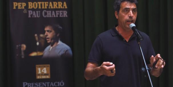 Pep Gimeno 'Botifarra' en el acto de presentación en la Diputación de Valencia./ (Paco Valiente)