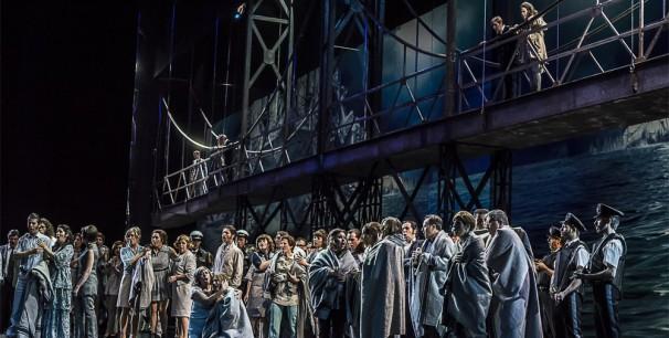 Durante el ensayo de la ópera 'Idomeneo' en Les Arts de Valencia./ (Tato Baeza)