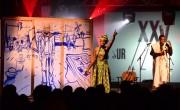Midnight Ravers en el escenario de Pirineos Sur./ (Javier Blasco)