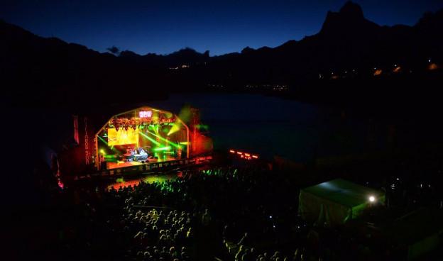 El Auditorio Natural de Lanuza el pasado fin de semana./ (Pirineos Sur)