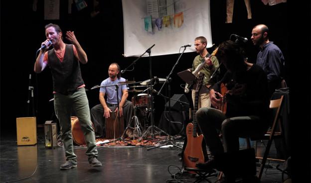 La Banda del Pepo durante el concierto en Valencia, enero 2016./ (Paco Valiente)
