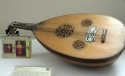 Reproducción de un laúd oriental, una de las piezas expuestas en el Museo Diocesano de Jaca