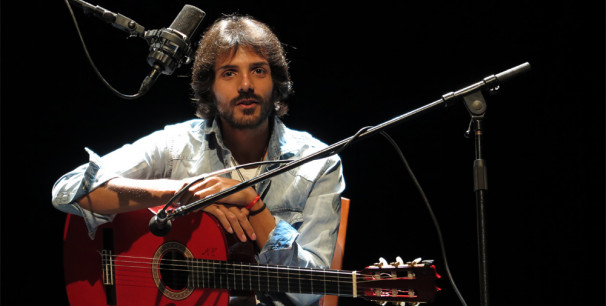 Juan Habichuela Nieto esta mañana durente la rueda de prensa en el Teatre Talía./ (Paco Valiente)