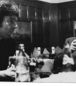 Enrique Morente y Leonard Cohen durante un encuentro./ (Alberto Manzano)