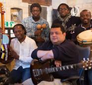 El músico garífuna hondureño Aurelio  y su banda./ (York Tillyer)
