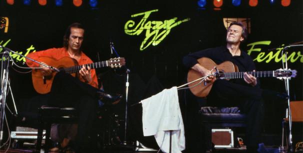 Paco de Lucía y John McLaughlin en Montreux Jazz Festival, 15 de julio de 1987