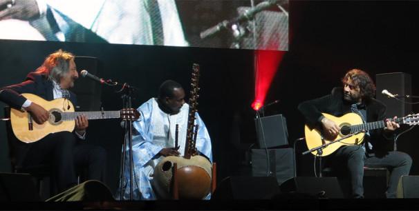 La histórica reunión flamenco-africana volvió a los escenarios en 2016./ (Paco Valiente)