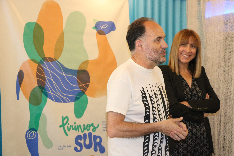Luis Lles, director de Pirineos Sur 2017, en la presentación a prensa en Valencia