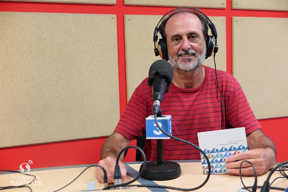 Toni Torregrosa durante la entrevsita en UPV Radio./ (Paco Valiente)