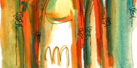 Cartel de la 26 edición del Festival Internacional en el Camino de Santiago, obra de Jacobo Pérez Enciso