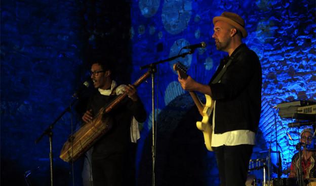 """Mourad Belouadi  y Jorge """"Bigboy"""" en el estreno""""De viento y arena"""" en Jaca./ (Paco Valiente)"""