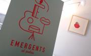 """Cartel de """"Emergents al Palau"""", obra de Dani Nebot, en la presentación del nuevo ciclo./ (P. V.)"""