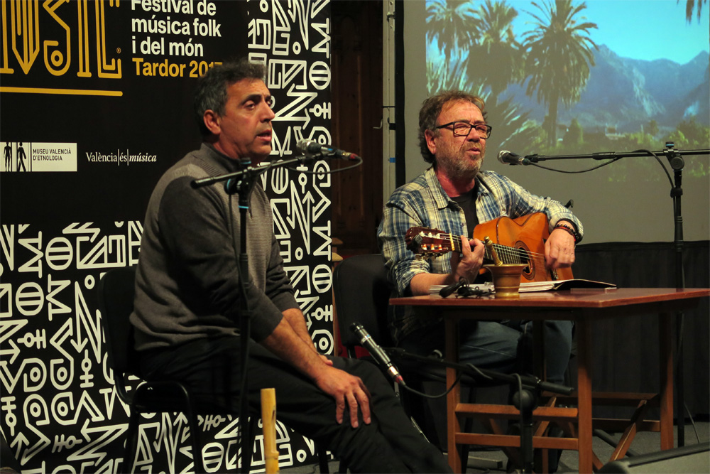 Miquel Gil y Pep Botifarra en Etnomusic Tardor 2017