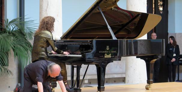 Carles Santos, en el Centre Cultural La Nau de València el 26 de mayo de 2015./ (Paco Valiente)