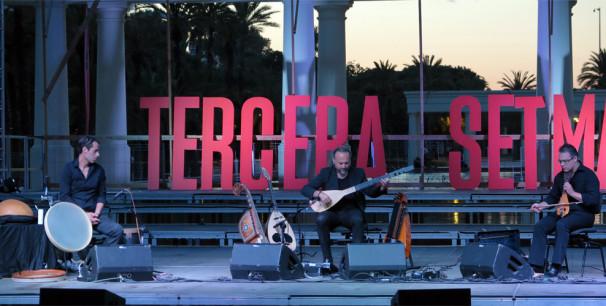 El Trio Petrakis-López-Chemirani en los Jardines del Túria, Festival Tercera Setmana./ (Paco Valiente)