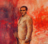 Lorca, detalle de la pintura de Juan Vida conmemorativa del centenario del nacimiento del poeta