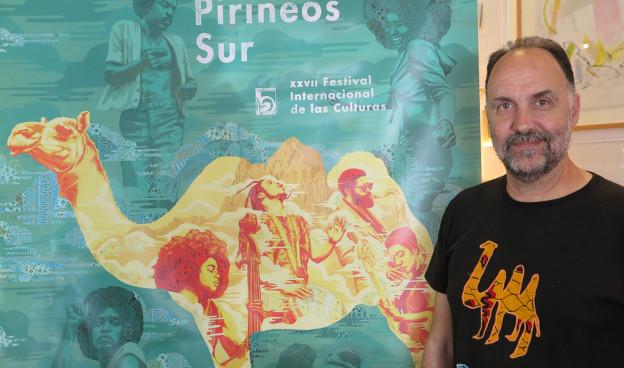 Luis Lles, director artístico de Pirineos Sur 2018, en la presentación en Valencia./ (Paco Valiente)