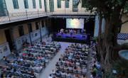 Escenario de Etnomusic en el patio del Centre Cultural la Benefiència, Valencia./ (Pa co Valiente)