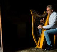 Rodrigo Romaní, productor, compositor, arpista y director de la orquesta folk Sondeseu