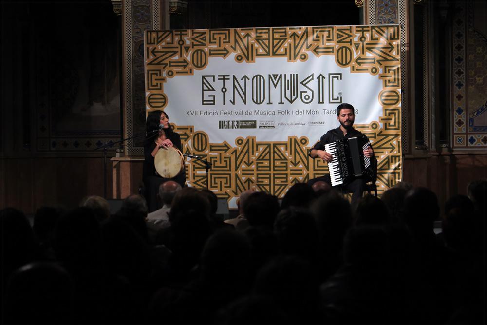 Los italianos Rachele Andrioli y Rocco NIgro, Etnomusic Tardor 2018