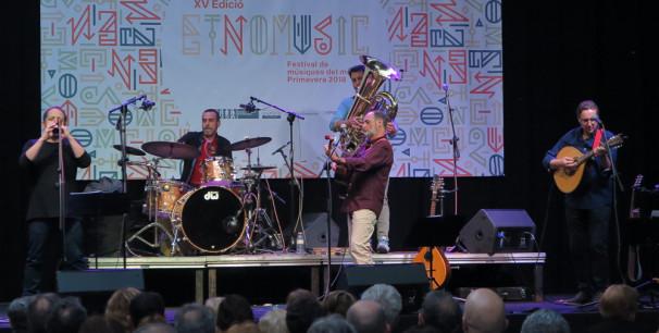 Urbàlia Rurana en su actuación en el Festival Etnomusic, València./ (P. V.)