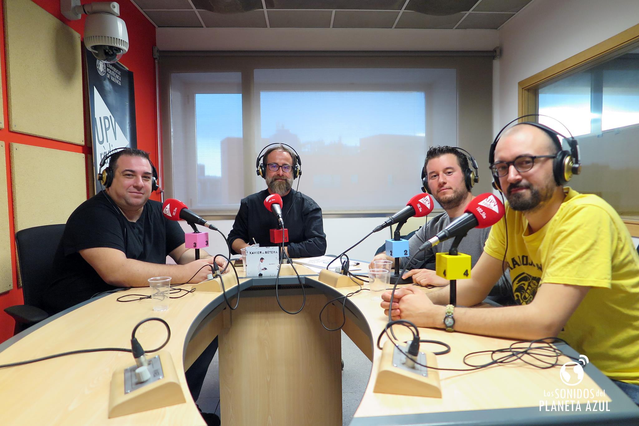 En los estudios de UPV Ràdio, Campus de Vera en València