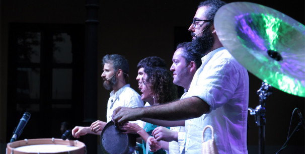 Los gallegos Odaiko y la vallisoletana Vanesa Muela, Etnomusic 2018, València./ (Paco Valiente)