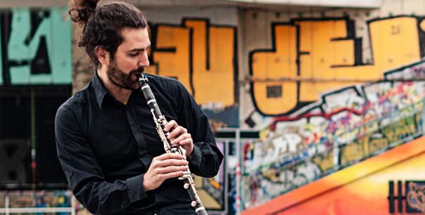 """Óscar Antolí, el clarinetista  en cuarteto presenta  su primer disco """"Penínsulas"""" (2019)./ (Reza Maleki)"""