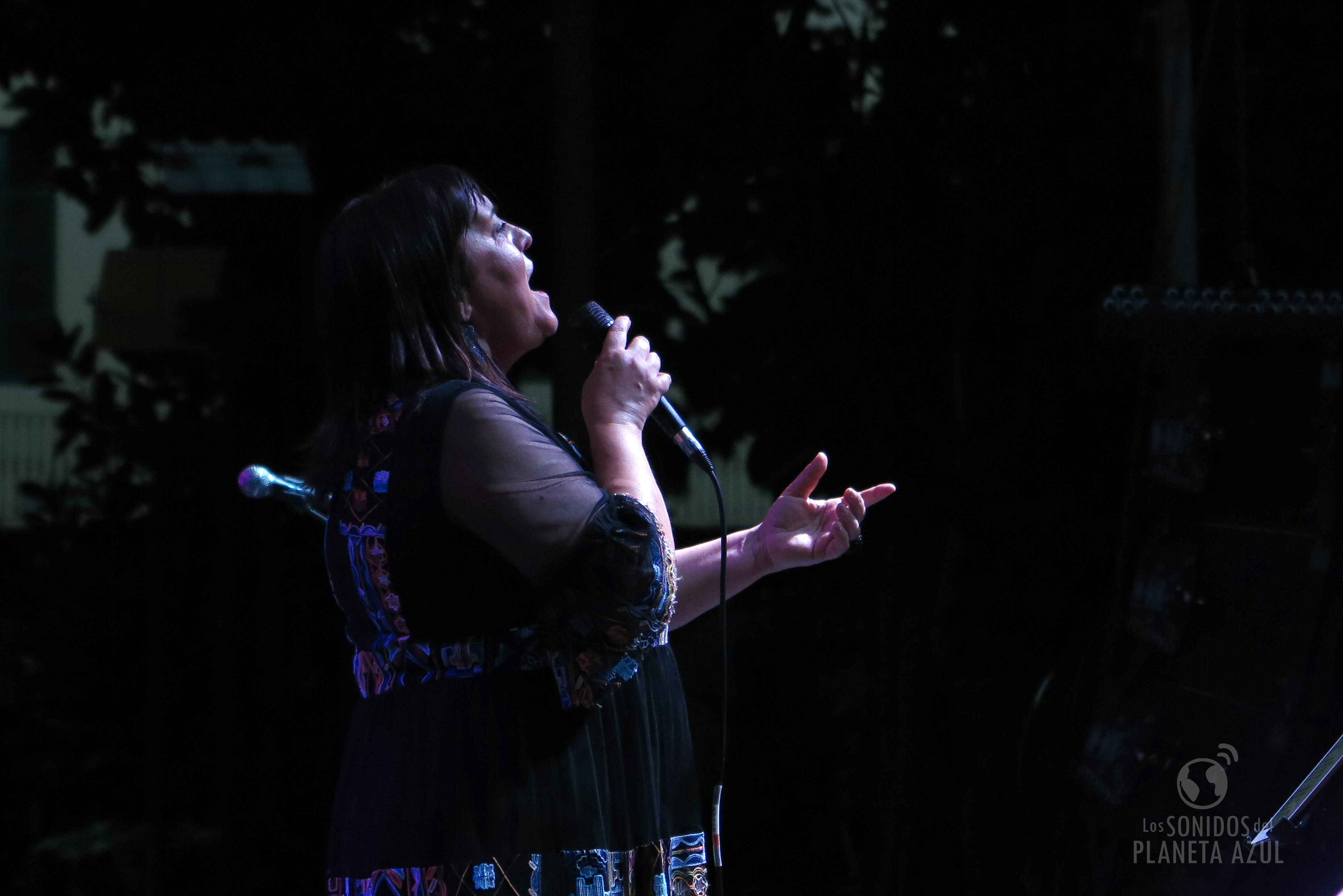 La cantante Uxía el pasado jueves en el concierto inaugural de Etnomusic 2019./ (P. V.)