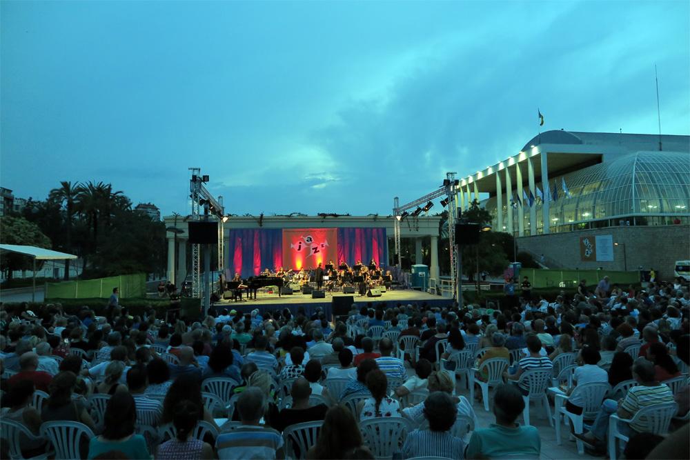 Escenario del Festival de Jazz en los Jardines del Palau, el pasado año./ (P. V.)