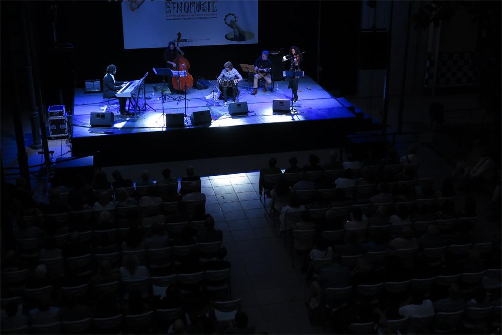 Marcelo Mercadante Sexteto en el escenario de Etnomusic./ (P. V.)