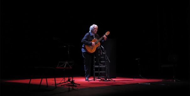 Paco Ibáñez en el Teatro Olympia de València, marzo de 2019./ (Paco Valiente)