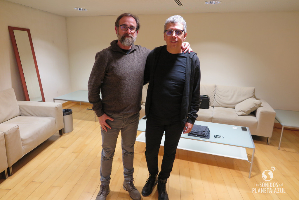 Con Pedro Guerra, poco antes de actuar en Les Ars, gira #Golosinas2018