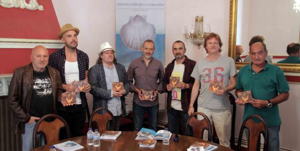 Presentación del álbum, Luis Calvo junto a algunos músicos de los que han participado