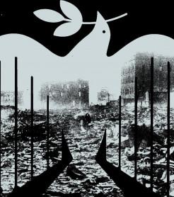 Portada del disco 'Los cielos cabizbajos' de Lagartija Nick, obra de Arnau Pi Bonany