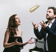La pianista Constanza Lechner y el armonicista Antonio Serrano./ (José Monteverde de Mesa)