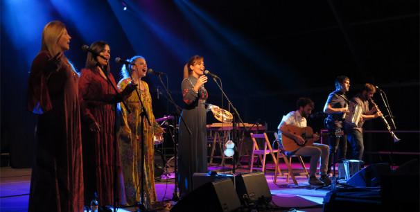 Gaizca Project en el escenario de La Taverna, en la 22ª Fira Mediterrània Manresa./ (Paco Valiente)