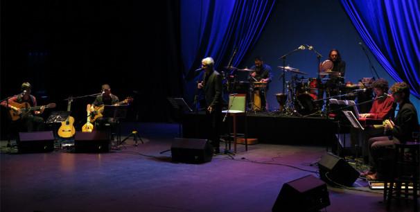 Carles Dénia en el escenario del Gran Teatre Xàtiva, enero de 2018./ (Paco Valiente)