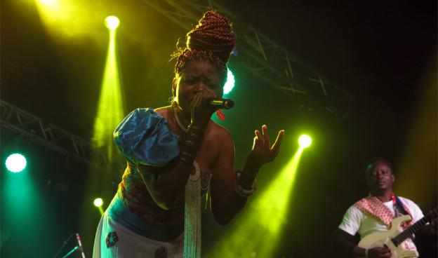 Nicole Obélé, la artista camerunesa en la 6ª edición de Visa For Music, en Rabat ./ (Paco Valiente)