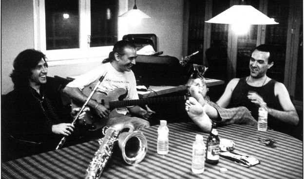 'El Trío', Jorge Pardo, Carles Benavent y Tino di Geraldo, hace 20 años ./ (Mario Pacheco)