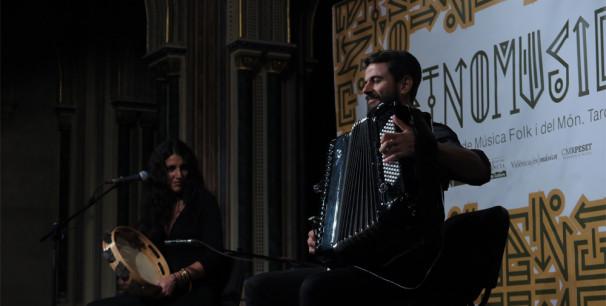 Andrioli y Nigro en la Sala Alfons el Magnànim, Centre Cultural la Beneficència de València./ (P. V.)